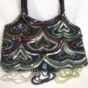 Jamin Puech Evening Bag w/ Sequins & Tiny Beads